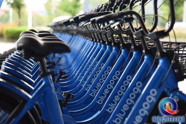 ▲ 블루고고의 트레이드 마크인 파란 자전거 (출처 : 美股)